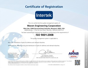 Maven Engineering Corp Award Winning Supplier To The
